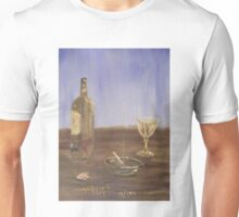 Breakfast with a glass of wine and a cigarette Unisex T-Shirt