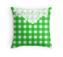 Country Lace - Okra Throw Pillow
