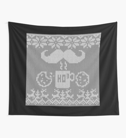 Santa's Stache Over Midnight Snack Knit Style Wall Tapestry