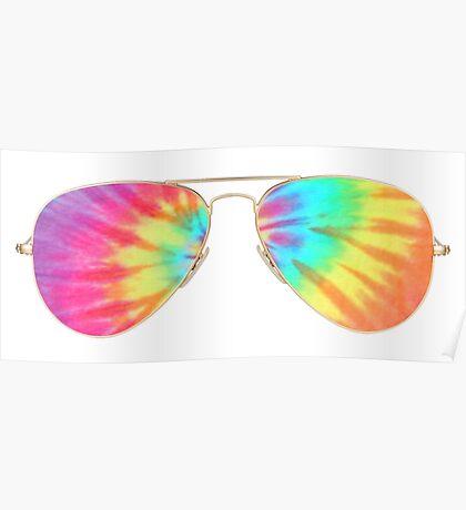 tie dye sunglasses  Poster