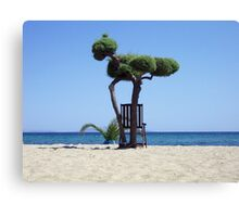 The tree and the chair Canvas Print