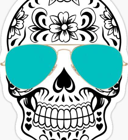 aviator skull  Sticker