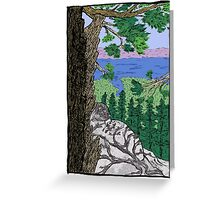 View from Maggies Peaks Greeting Card