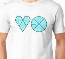 EXO Logo K-Pop Aqua/Blue Polkadot Print Unisex T-Shirt
