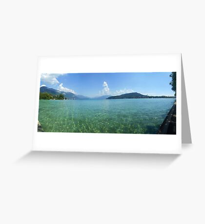 Lake Annecy from the West Side Greeting Card