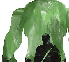 Hulk Silhouette by lynxcollection
