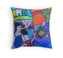 At The Villa Throw Pillow