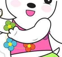 """Be Happy"" Sticker by Hana Ohana Sticker"