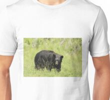 Black Bear in a pasture Unisex T-Shirt