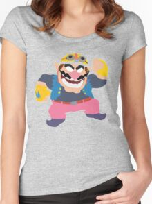 Simplistic Wario Super Smash Bros  Women's Fitted Scoop T-Shirt