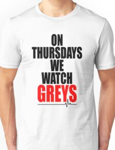New ON THURSDAYS WE WATCH GREY'S - For Light Unisex T-Shirt