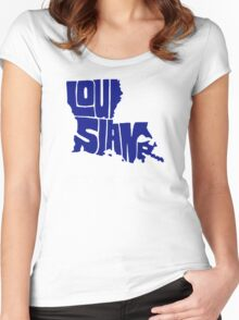 Louisiana Strong Women's Fitted Scoop T-Shirt