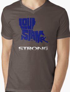 Louisiana Strong Mens V-Neck T-Shirt