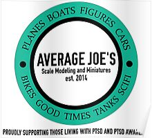 Average Joe's Scale models and miniatures PTSD Poster