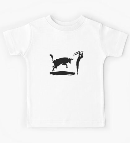 Bull fight III paint by Pablo Picasso Kids Tee