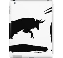 Bull fight III paint by Pablo Picasso iPad Case/Skin