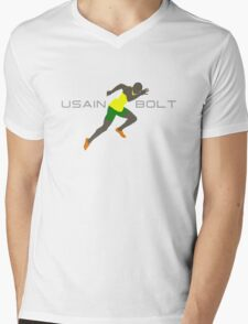 USAIN BOLT SPRINT Mens V-Neck T-Shirt