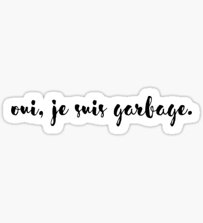 Sexy French Depression Sticker