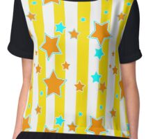 All Of The Stars. Creative star pattern. Very modern and colorful. Chiffon Top