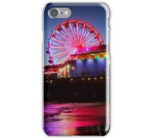 Santa Monica ferris wheel iPhone Case/Skin