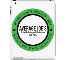 Average Joe's Scale models and miniatures iPad Case/Skin