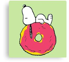 snoopy love donuts Canvas Print