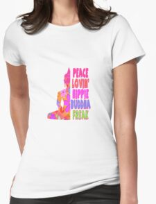 Buddha Peace Loving Hippie Womens Fitted T-Shirt