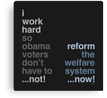 Reform The Welfare System Canvas Print
