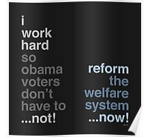 Reform The Welfare System Poster