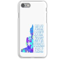Hippie Buddha Peace Meditation iPhone Case/Skin