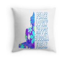 Hippie Buddha Peace Meditation Throw Pillow
