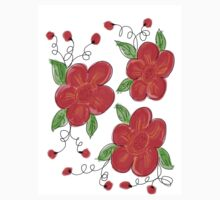 Trusted Red Floral Baby Tee
