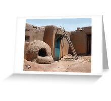 On the Taos Pueblo Greeting Card