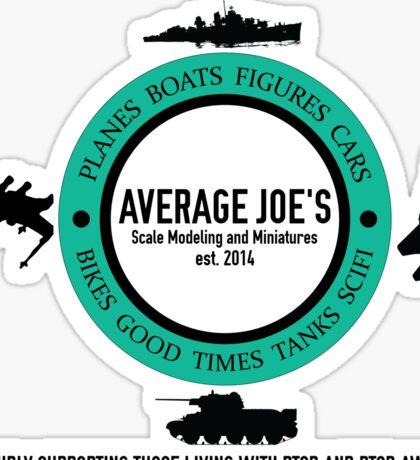 Average Joe's Scale models and miniatures PTSD vehicles Sticker