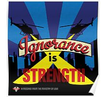 Ignorance Is Strength 1984 George Orwell Poster