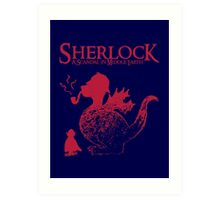 Sherlock - A scandal in Middle Earth (red) Art Print