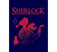 Sherlock - A scandal in Middle Earth (red) Photographic Print