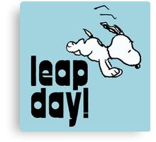 leap day snoopy Canvas Print