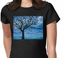 tree at midnight Womens Fitted T-Shirt