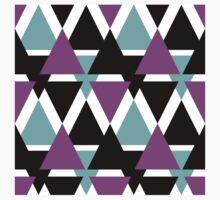 Geometric ornament . Multi-colored triangles. The art design.  Kids Tee