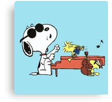 play music group snoopy Canvas Print