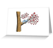Cute Sleeping Koala on Tree with Hearts Greeting Card