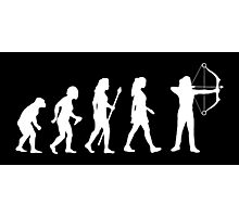 Archery Evolution Funny Womens Shirt Photographic Print