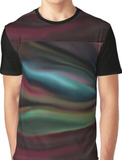 Digital painted texture dark background. Abstract beautiful illustration, color, silk, liquid print. Graphic T-Shirt