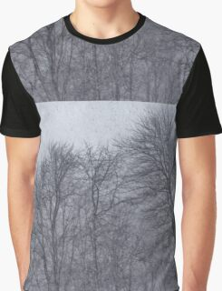Darkness Descends on the Blizzard Trees  Graphic T-Shirt