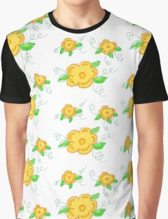 Sunny Yellow Floral Graphic T-Shirt