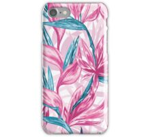 Hand draw tropical flowers iPhone Case/Skin
