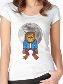 Wolf Man Women's Fitted Scoop T-Shirt