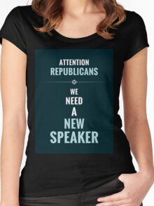 Need A New Speaker Women's Fitted Scoop T-Shirt