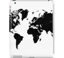 World Map Black & White iPad Case/Skin